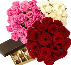 19 roses of any color plus a box of chocolates