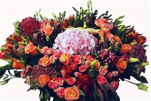 Exquisite flowers basket