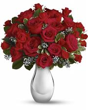 25 roses with Christmas decoration