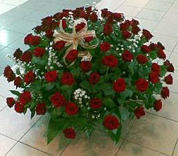 Flowers basket with 101 roses